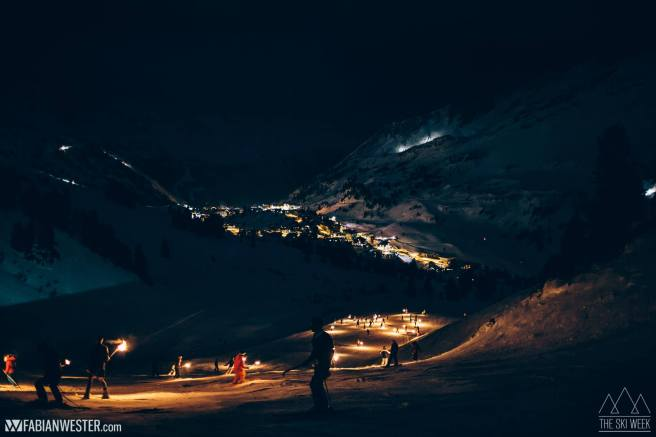 Night skiing in AUstria
