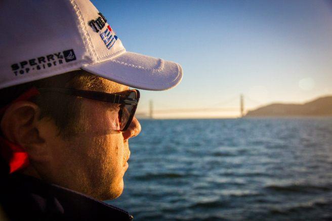 Sailing in San Francisco, hometown